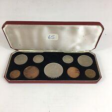 1953 Elizabeth II Coronation Cased Coin Set Sixpence Missing