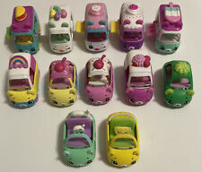 Shopkins Cutie Cars Food Trucks Mini Vans Lot of 12 Die Cast Vehicles Euc