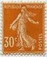 "FRANCE STAMP TIMBRE YVERT 141 "" SEMEUSE FOND PLEIN 30c ORANGE "" NEUF xx TTB B119"