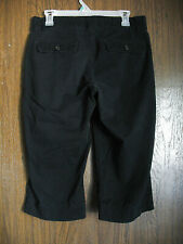 Dockers Women's Capris Size 8 Black Cotton Blend Capri Pants