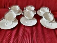 6 Marken Porzellan Kaffee-Teetassen und Untertassen- Schirnding- Scherzer
