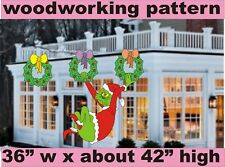 WHOVILLE GRINCH HANNGING WOODWORKING PATTERN,plan, crafts decor yard art