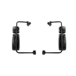 NEW PAIR OF DOOR MIRRORS FITS FREIGHTLINER HEAVY DUTY M2 100 2004-2016 WITH ARM