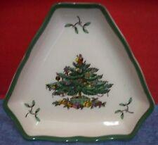 Spode Christmas Tree England 2 Tree Shape Triangular Trays Nut Dishes S3324