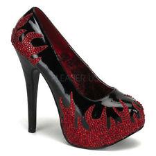 Leather Platforms & Wedges Medium (B, M) Textured Heels for Women