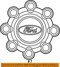 FORD OEM 04-16 F-350 Super Duty Wheel Cover-Hub Center Cap 5C3Z1130LA
