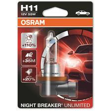 Osram Night Breaker ilimitado H11 711 12 V 55 W Faros Antiniebla Bombillas único Blister