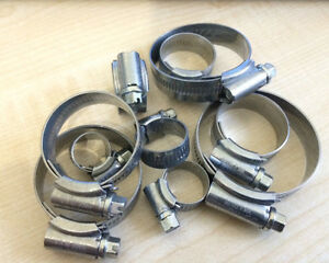 New Genuine Jubilee Fastener Hose Clip Sizes 000 - 2A Sizes 9.5mm to 50mm