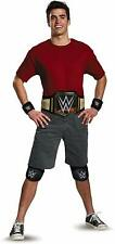 Adult WWE Champion Costume Kit Wrestler Outfit Belt Wristbands Knee pads Age 14+