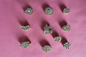 paper printing block design set of 10 bock, heena making design block