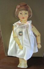 "1990 UFDC United Federation Doll Club Schoenhut Repro 14 1/2"" paper doll W / Pin"