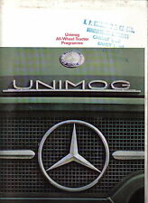 Mercedes Benz Unimog All Wheel Tractor 1968 Original UK Sales Brochure WZ 0385