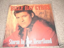 Billy Ray Cyrus Signed Autographed Record CD Flat Photo