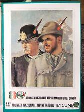 ALPINI 80^ ADUNATA NAZ.CUNEO 2007 manifesto poster nuovo Sez. Saluzzo 48x33cm #d