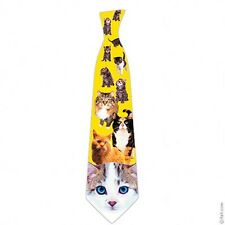 Cats tie men neck tie kitty cat kittens cat lover gift novelty Polyester ITATI