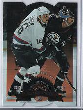 1997-98 LEAF TREVOR LINDEN X-AXIS DIE-CUT FRACTAL MATRIX A DAY IN THE NHL 197