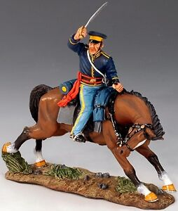 KING & COUNTRY THE REAL WEST TRW003 MOUNTED TROOPER WITH SWORD MIB