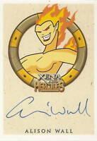 Hercules Xena Allison Wall as Mnemosyne autograph auto insert trading card
