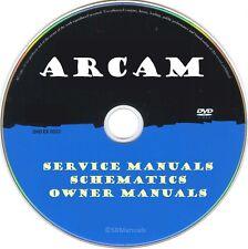 Arcam Service Manuals & Schematics- PDFs on DVD - Huge Collection
