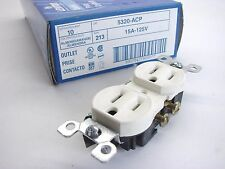20 Leviton 5320-Acp Residential Almond Duplex Receptacle Outlets 5-15R 15A 125V