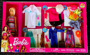 Barbie Dream Careers Doll w/ 6 Career Outfits & Accessories