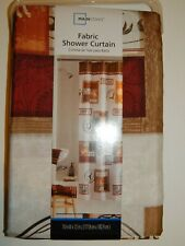 Shower Curtain Fabric Mainstays Rodeo Time Western Cowboy Country Cow Bull Theme