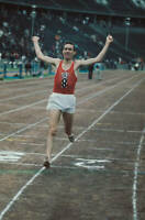 OLD PHOTO MEXICO OLYMPICS West German Long Distance Runner Manfred Letzerich