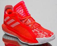 adidas Dame 6 Men's Damian Lillard Solar Red White Basketball Sneakers Shoes
