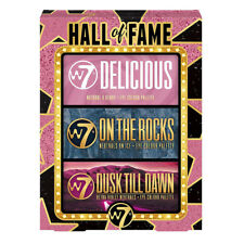 W7 Hall Of Fame - 3 Pack Eyeshadow Palettes Shimmer Mattes Brush Gift Christmas