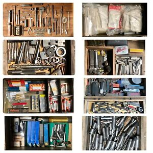 Job Lot Lathe Tools Parts Metalworking Engineering Bits Inserts Vintage