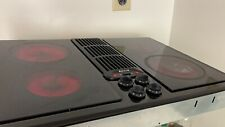 "VIDEO! Jenn-Air Electric Downdraft Cooktop Black 30"", Model JED8230ADB Glass"