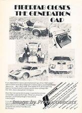 1973 Fiberfab Avenger SLR -  Original Advertisement Print Art Car Ad J767