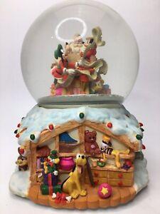 Made in Santa's Workshop Disney Mickey Water Snow Globe Animated Train Musical