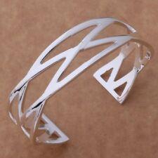 925 Silver Plated Charming Bangle Bracelet -=UK SELLER=-