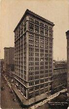 Cincinnati Ohio~Fourth and Walnut Streets~Whole Block~1909 Sepia Postcard