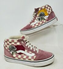 Vans Mid Pink Rose Shoes High Top womens 6