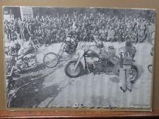 F.T.W. Motorcycles 1970 biker chopper Vintage Black & White Poster Gang Inv#1789