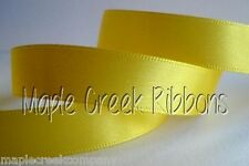 "3yd of Yellow 1.5"" Double Face Satin Ribbon 1.5"" x 3 yards neatly wound"