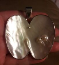 Jay King DTR Mine Finds Large Blister Pearl Sterling Silver Pendant HSN