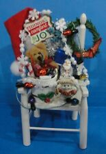 Dollhouse Christmas chair with Dreamsicies angel ornament plus accessories #2