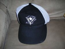 NHL, Pittsburgh Penguins, team embroidered logo hat, one size velcro fit, vg con