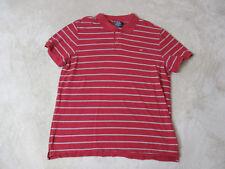 VINTAGE Ralph Lauren Polo Jeans Shirt Adult 2XL XXL Red Blue Rugby Flag Men 90s