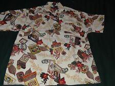 Koman Hawaiian, Large Multi-Color, 100% Polyester, Button Up Shirt