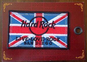 Hard Rock Café Union Jack Ville Patch San Diego Ca Fer Sur Patch Neuf