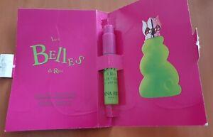 LES BELLES DE RICCI Echantillon mini vaporisateur sur carte edp 1999 n°1