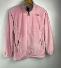 The North Face Women's Osito Fleece Jacket Large Pink Full Zip Soft Fuzzy