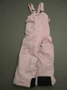 Columbia Size 4-5 Youth Pink Athletic Insulated Outdoor Snow Bib Pants T257
