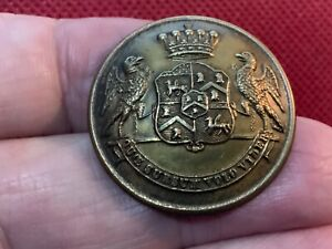 2nd EARL OF DUNRAVEN (Wyndham-Quin) 30mm LIVERY BUTTON DIGBY/STILLWELL/LANGMEAD