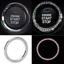Accessories Button Start Switch Diamond Ring 1x Auto Car Truck Decorative Silver