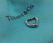 NEW Tiffany & Co. Elsa Peretti Mini Open Heart Charm 18k White Gold 1.3g 750